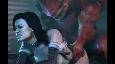 Mass Effect - Wrex - Full Compilation GIF - 4 min