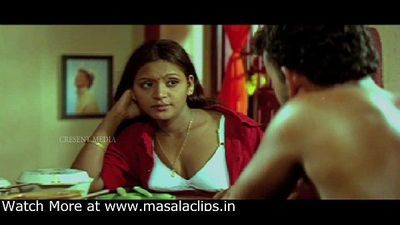 Cute Old Mallu Actress Boobs Pressed in White Bra - 8 min