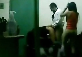 indian boss fucking his office girls in group sex in cabin - 11 min