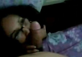 Horny Indian wife with glasses gives glorious blowjob - 3 min