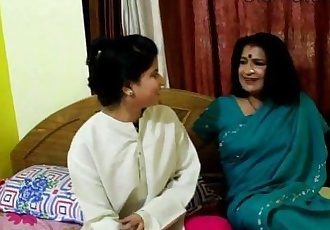 Indian old aunty boobs show - 5 min