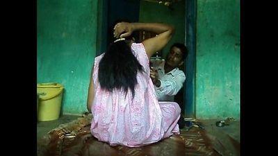 shaving villager aunty - 3 min