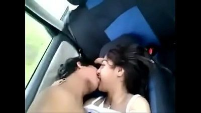 Very cute girlfriend having sex with boyfriend inside car - 2 min