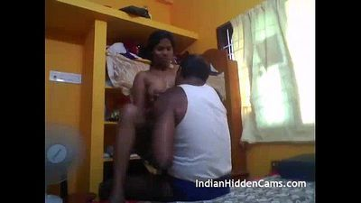 desi tamil couple hard fucking in bedroom - IndianHiddenCams.com - 1 min 10 sec