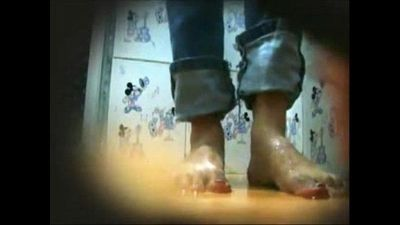 Desi Teen Pissing in Bathroom - 2 min