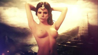 Kamasutra 3D - Photo Shoot Nude Video with Sherlyn Chopra - 1 min 4 sec