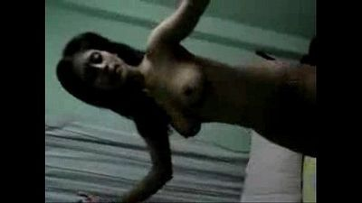 Horny Indian Bengali wifes Nude dance & penis in boobs b4 sex, bengali audio - 2 min