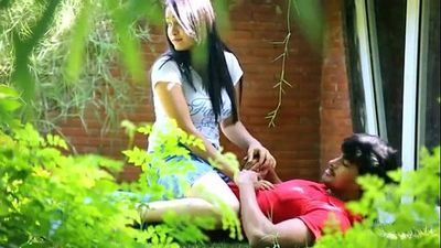 Indian Couple Boob Press, Fuck & Blowjob In Park - 6 min