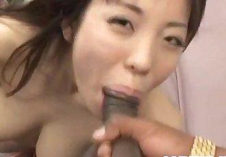 Mei Amazaki sucking dick in interracial - 10 min