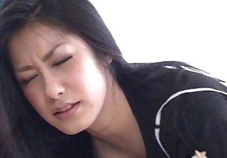 Proper masturbation solo show along nasty Kyoka Ishiguro - 10 min