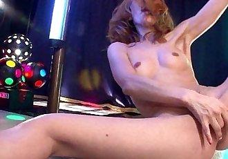 Asian stripper getting wild on the pole as she masturbates - 8 min HD