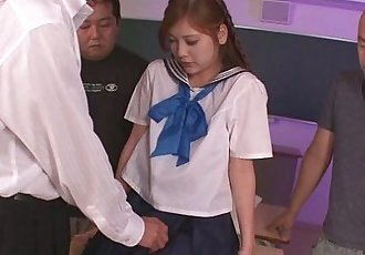 Schoolgirl Yura Kasumi is a hot japanese cum girl - 8 min