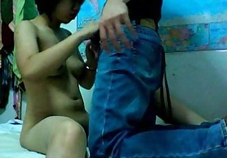 www.DearSX.com - Hot asian sex couple homemade video - 8 min