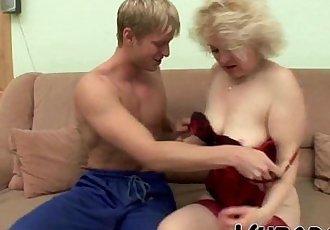Hot guy fucking a big tits MILF!HD