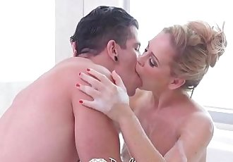 PUREMATURE Busty MILF Cherie Deville fucked with messy creampieHD