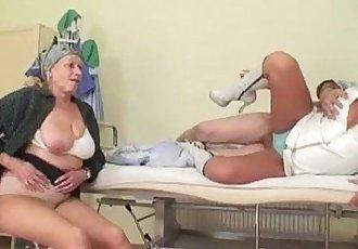 Grandpa fucks nurse while grandma masturbates - 6 min