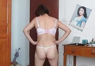 Asian mature striptease - 7 min