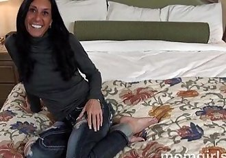 Tanned sexy milf sucking cock and taking it from behind - 5 min