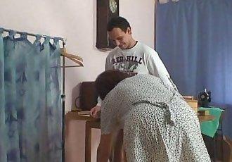 He bangs sewing granny - 6 min