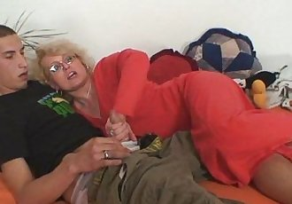 Wife finds him fucking her old mom - 6 min