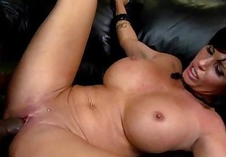 Hot MILF deepthroats gags and gets banged by a black cock 21