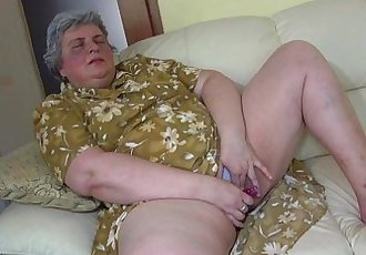 OldNanny Pretty girl and fat granny masturbating together - 8 min HD