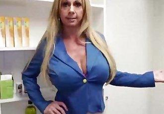 over40-Horny milf strokes a young cockHD