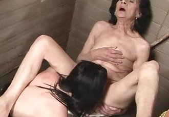Laura and ChannelOld young lesbian love in the toilette