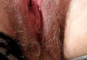 Redhead huge boobies cougar spreads her haired piss hole - 6 min