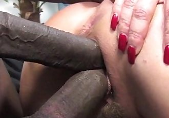 Janet Mason makes her son watch as she fucks a big black cock - 5 min