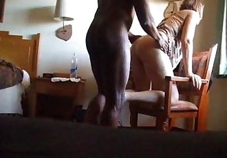 Spycam - Wife interracial cuckold - 2 min
