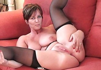 British granny Joy with big tits shows her fuckable body - 6 min HD