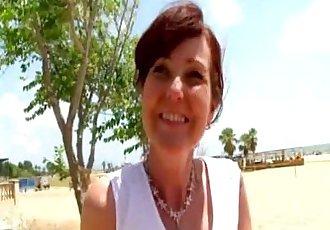 Joyce analfucked on a beach in Spain - 4 min