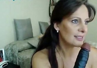 SpankBang milf loves to tease on webcam 480p