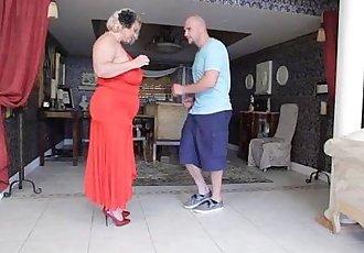 Mature BBW Slut Samantha 38G Gives Fucking Lessons to Stud - 2 min