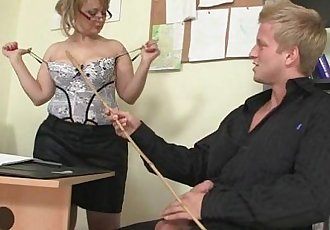 Lovely lady in white stockings takes it from behind - 6 min