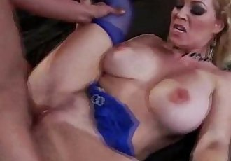 Big titted milf gets a hot pussy fucking from guy