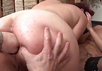 FFM French milfs ass fucked and pussies fist fucked in threewayHD