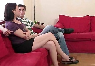 Horny mother in law enjoys riding his dick - 6 min