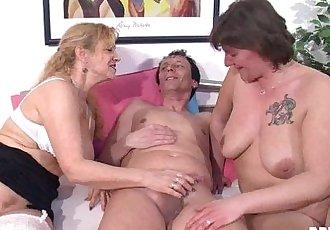 Nasty german milfs share cockHD