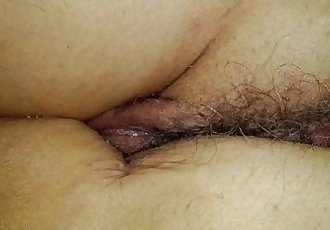 Sleeping wifes fucked hairy wet ass and pussy close up - 3 min