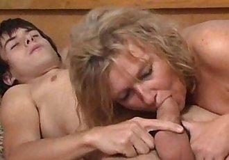 Blonde mature fucks young boy 00 - 8 min