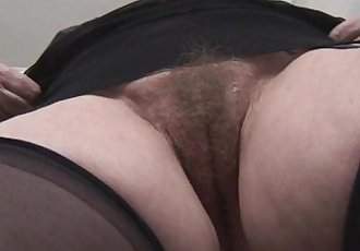 Busty hairy granny upskirt tease - 7 min