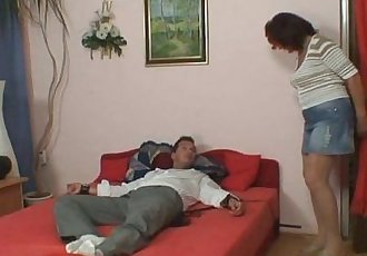 She gets mad when finds him fucking her mom - 6 min