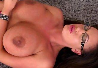 Busty british porn star fingering and masturbating till orgasm