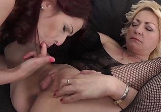 Granny and mature group sex pussy fucked interracial hardcore