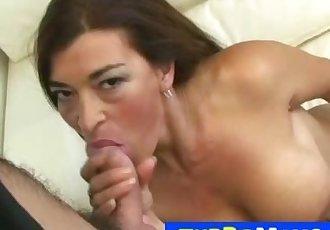 Beautiful older latina mom Ale blowjob then rough fuck