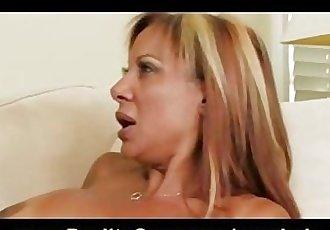 HOT busty brunette in heels Demi Delia fucks big-dick to orgasm