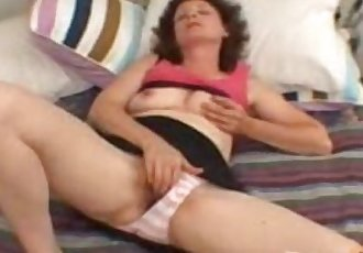 Mature mom playing with her self