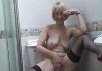 Hazel Fucks Her Hairy Milf Pussy